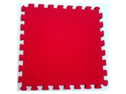 Tatame Tapete EVA Com Borda 50 X 50 X 2cm Vermelho
