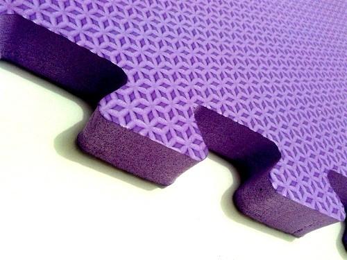 Tatame Tapete EVA Com Borda 50 X 50 X 2cm Violeta