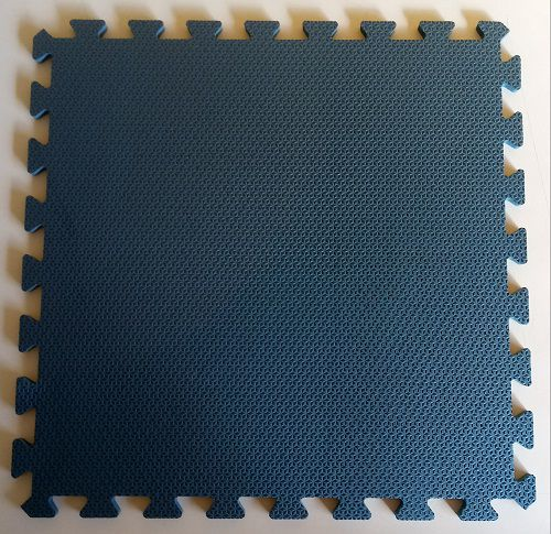 Tatame Tapete EVA Com Borda 50 X 50 X 3cm Azul Escuro