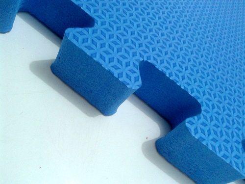 Tatame Tapete EVA Com Borda 50 X 50 X 3cm Azul Royal