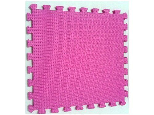 Tatame Tapete EVA Com Borda 50 X 50 X 3cm Rosa