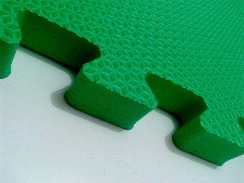 Tatame Tapete EVA Com Borda 50 X 50 X 3cm Verde