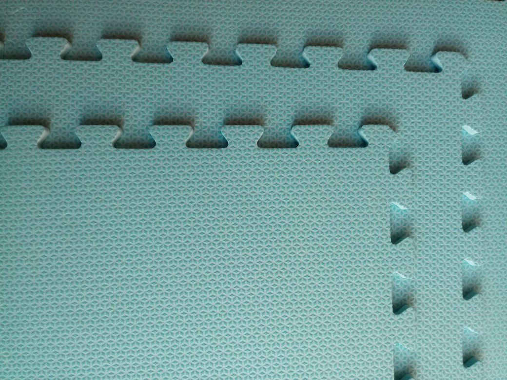 Tatame Tapete EVA Com Borda 50 X 50 X 3cm Verde Água