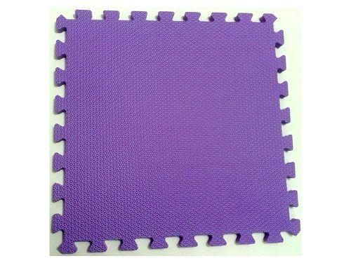Tatame Tapete EVA Com Borda 50 X 50 X 3cm Violeta