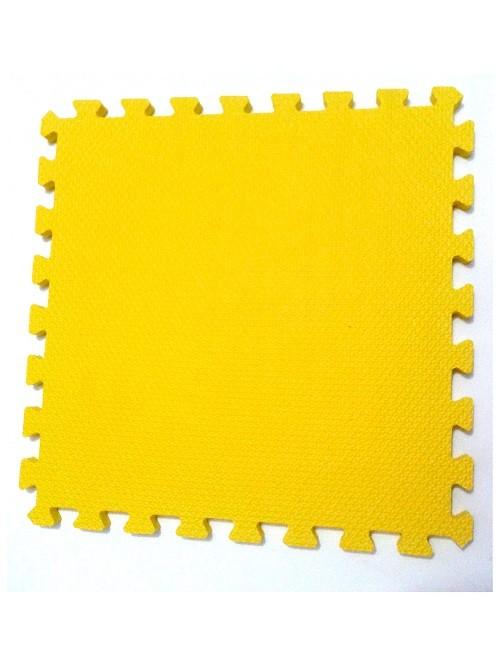 Tatame Tapete EVA Com Borda 50cm X 50cm X 1cm Amarelo
