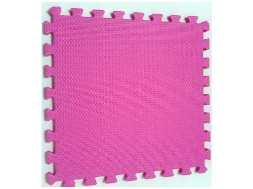Tatame Tapete EVA Com Borda 50cm X 50cm X 1cm Rosa