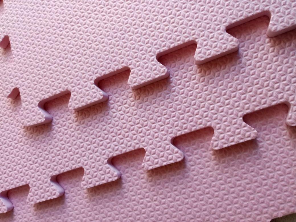 Tatame Tapete EVA Com Borda 50cm X 50cm X 1cm Rosa Prisma
