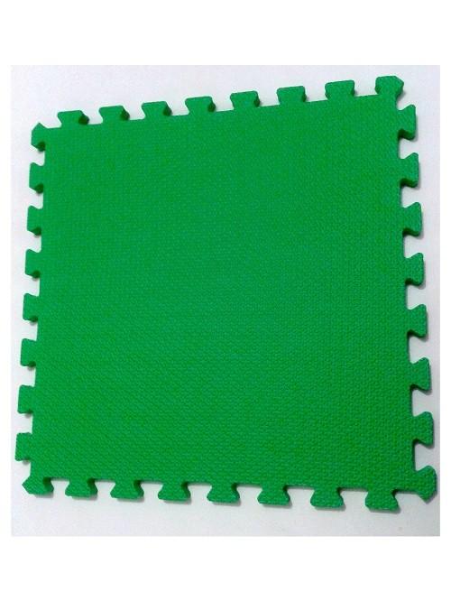 Tatame Tapete EVA Com Borda 50cm X 50cm X 1cm Verde