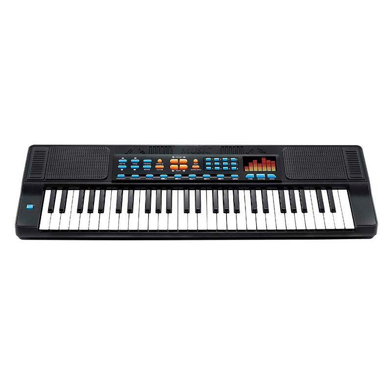 Teclado Piano Musical Infantil 54 Teclas com Ritmos
