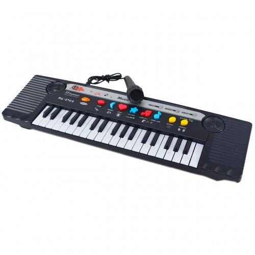 Teclado Piano Musical Infantil com Microfone e 8 Ritmos