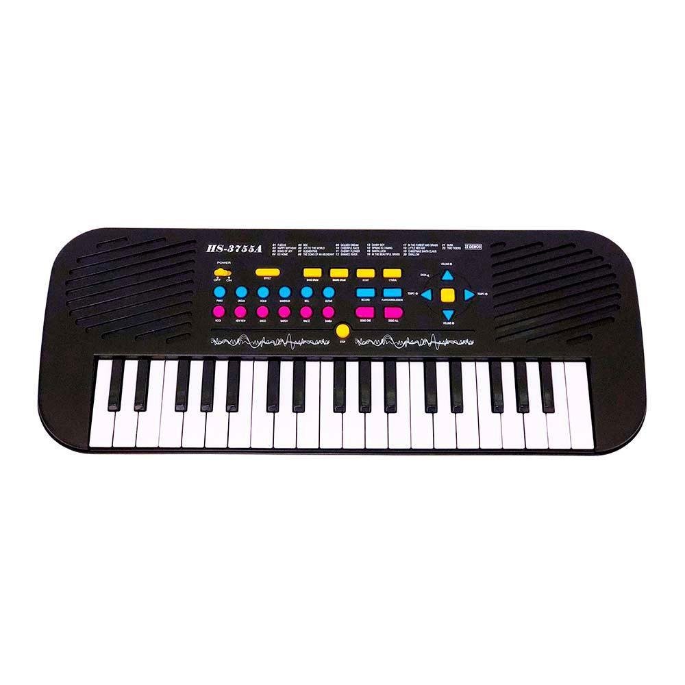 Teclado Piano Musical Infantil com Ritmos Microfone 37 Teclas