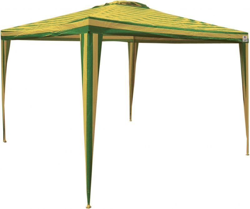 Tenda Gazebo Listrada Verde e Amarelo Copa do Mundo 3 x 3m