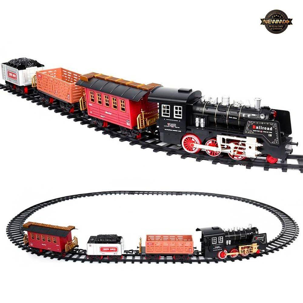 Trem Ferrorama Express Clássico Com Som e Luz