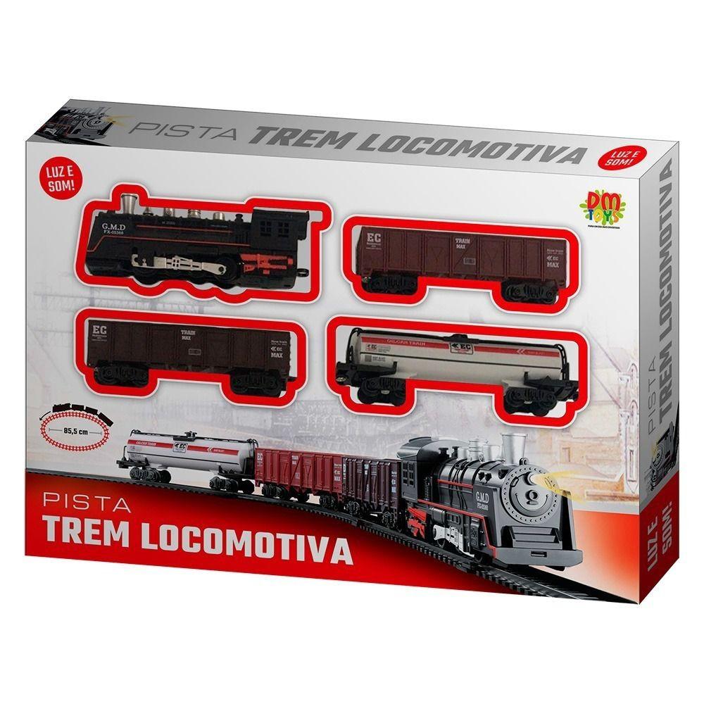 Ferrorama Trem Trenzinho Infantil Locomotiva com Luz e Som
