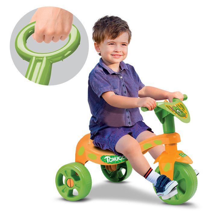 Triciclo Infantil Dinossauro com Haste Empurrador Samba Toys