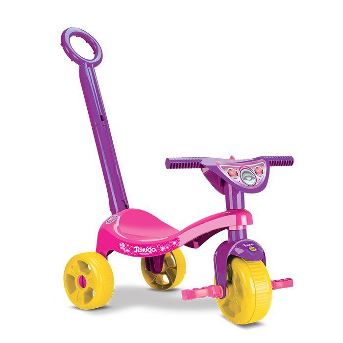 Triciclo Infantil Princesa Judy com Haste Empurrador