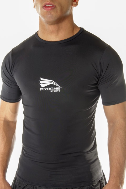 Camisa de Compressão Térmica - Progne - Manga Curta Preto