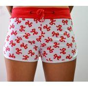 Shorts Moletom Laços