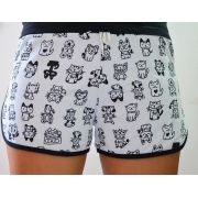 Shorts Moletom Love Cats