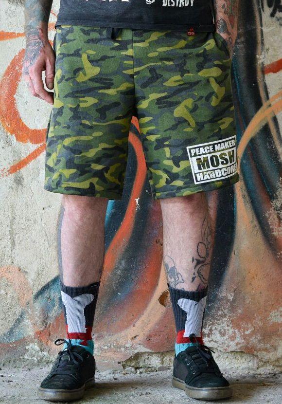 Bermuda Camuflada Hardcore Moletom