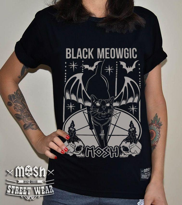 Camiseta Black Meowgic