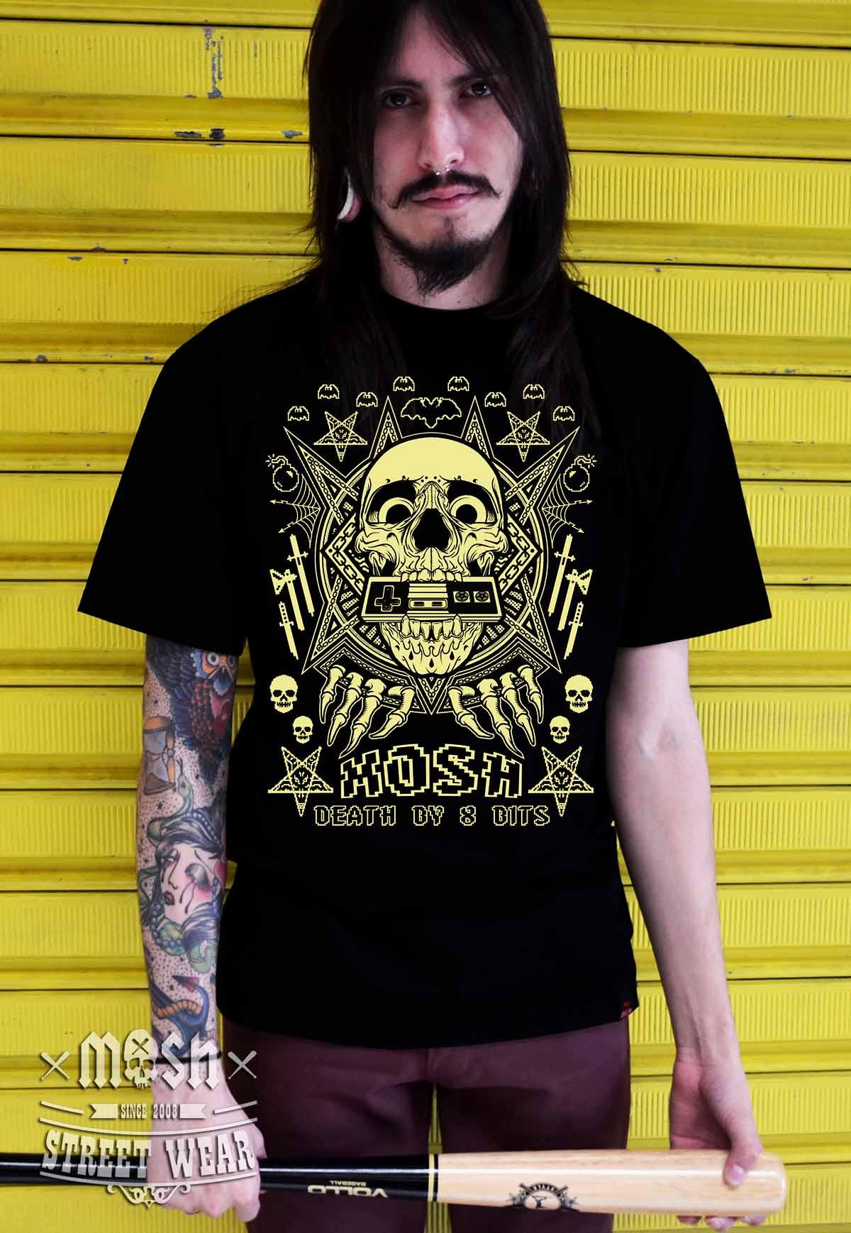 Camiseta Death By 8 Bits