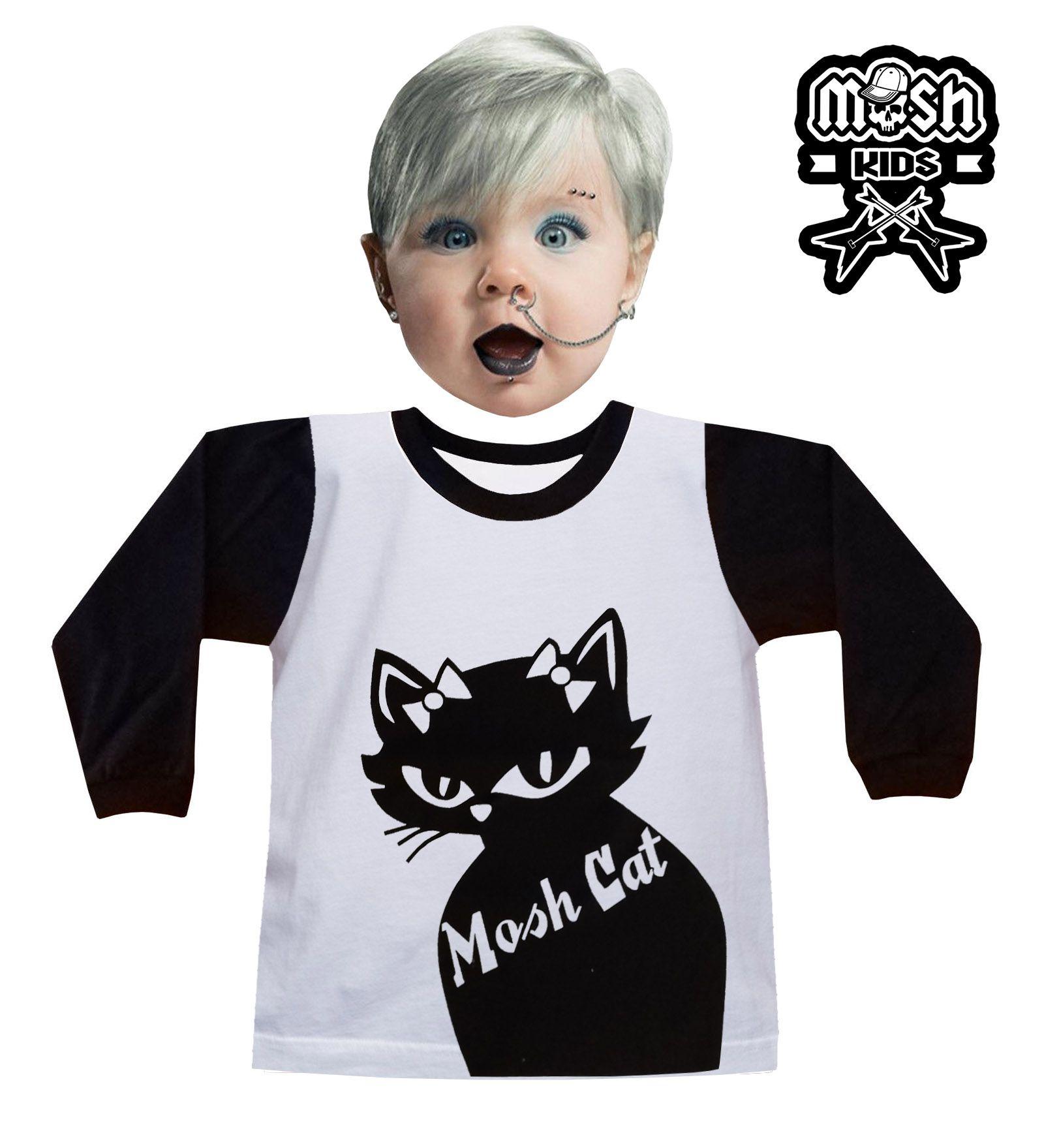 Manga Longa Infantil Black Cat
