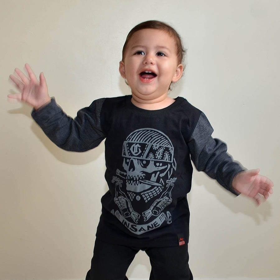 Camiseta Manga Longa Compton Infantil