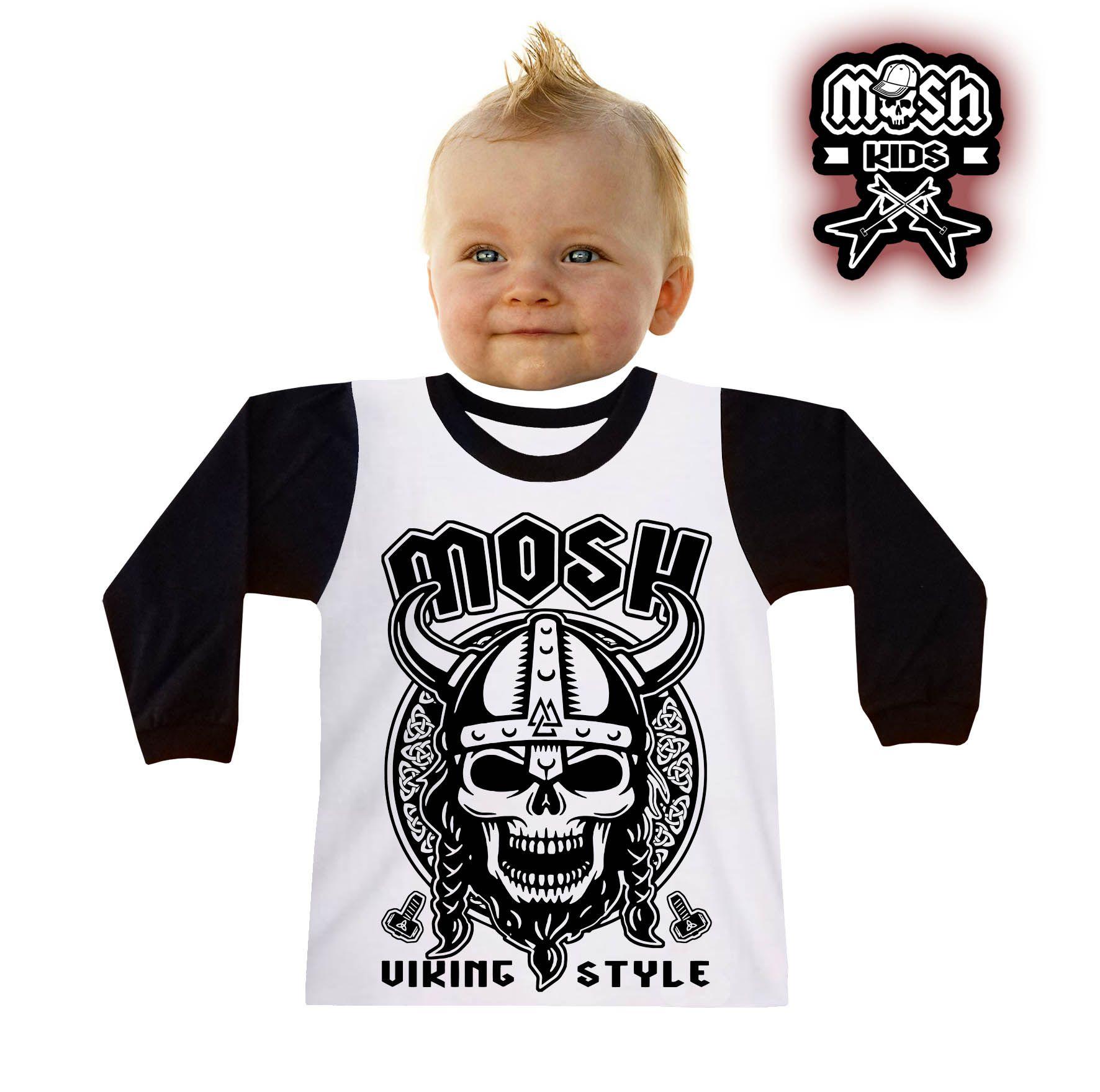 Camiseta Manga Longa Viking Style Infantil