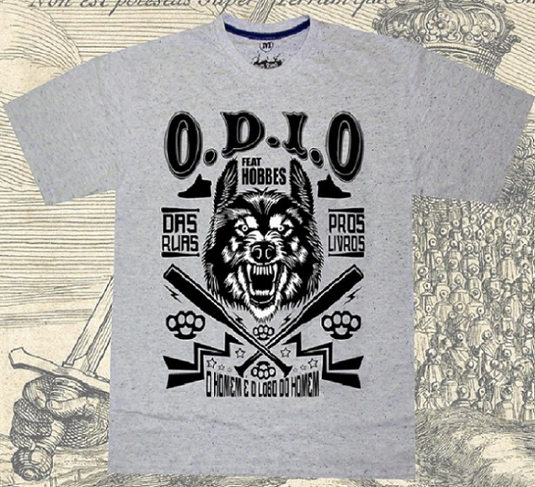 Camiseta O.D.I.O - HOBBES LOBO