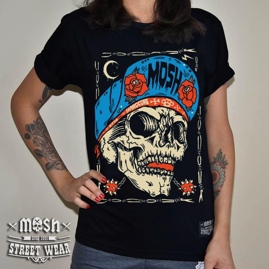 Camiseta Skull Roses HC