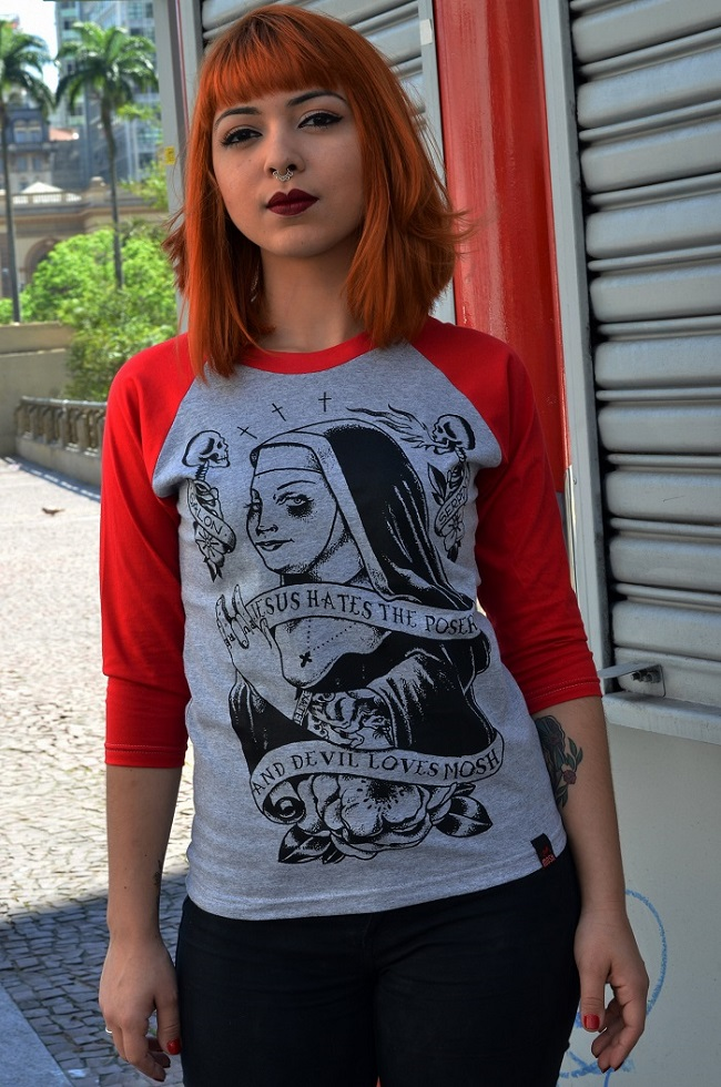 Raglan Fem Freira Tattoo
