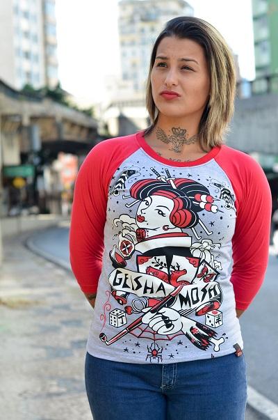 Raglan Feminino Geisha Mosh