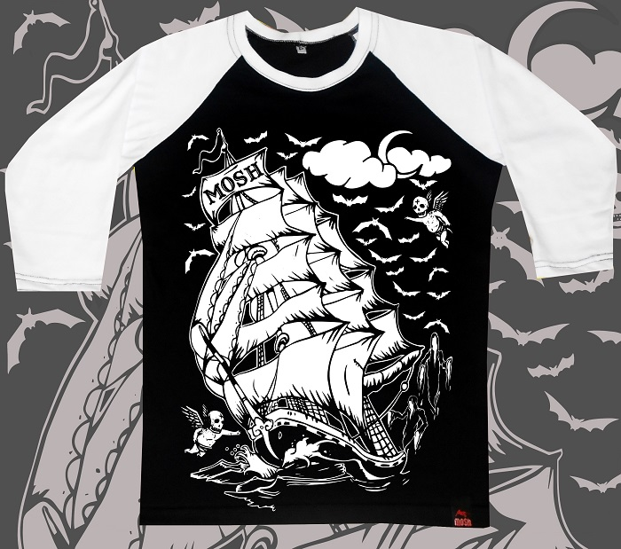 Raglan Feminino Ghost Ship