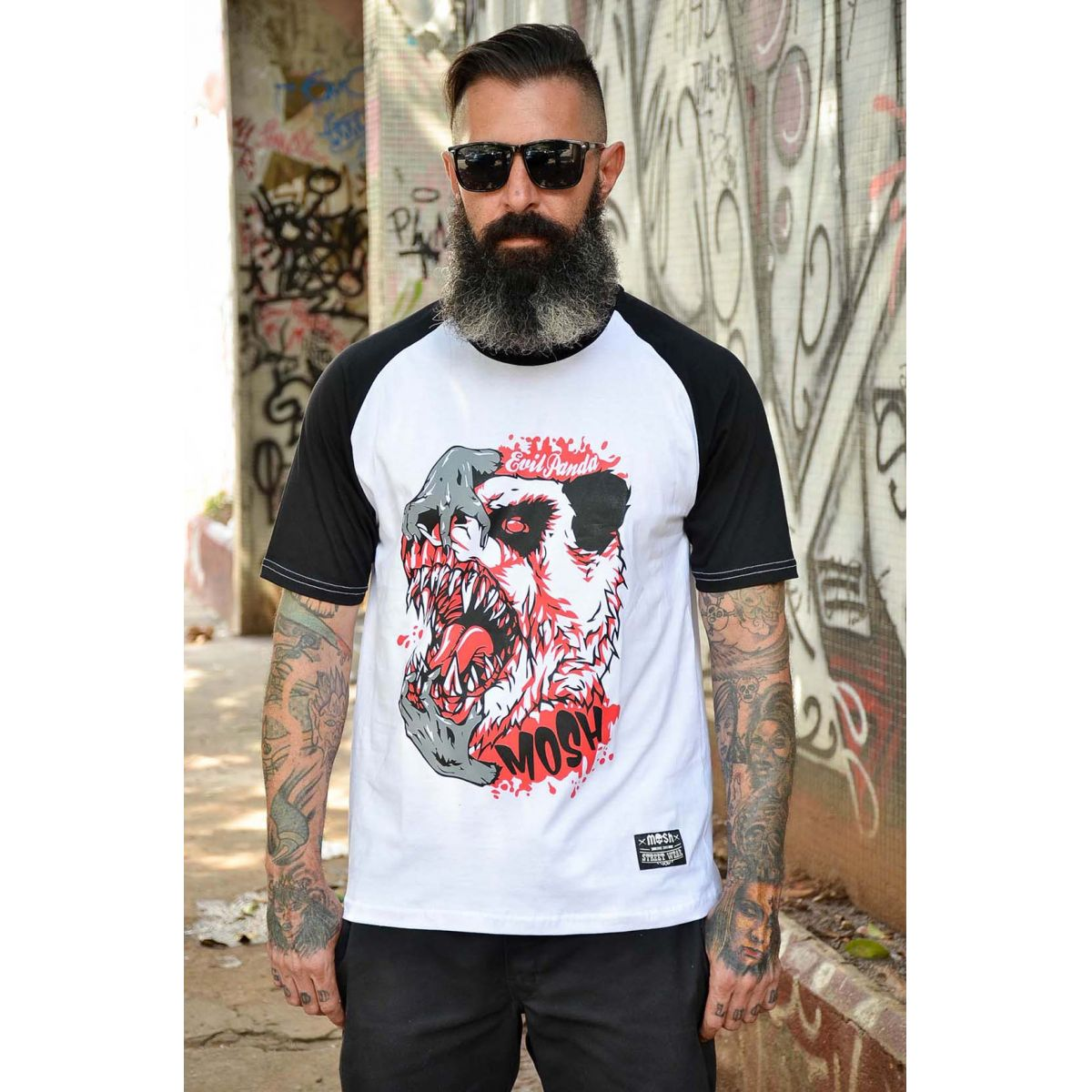 Raglan Masc Evil Panda