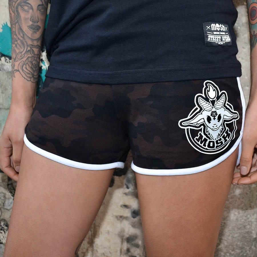 Shorts Bodinho Camuflado Marrom