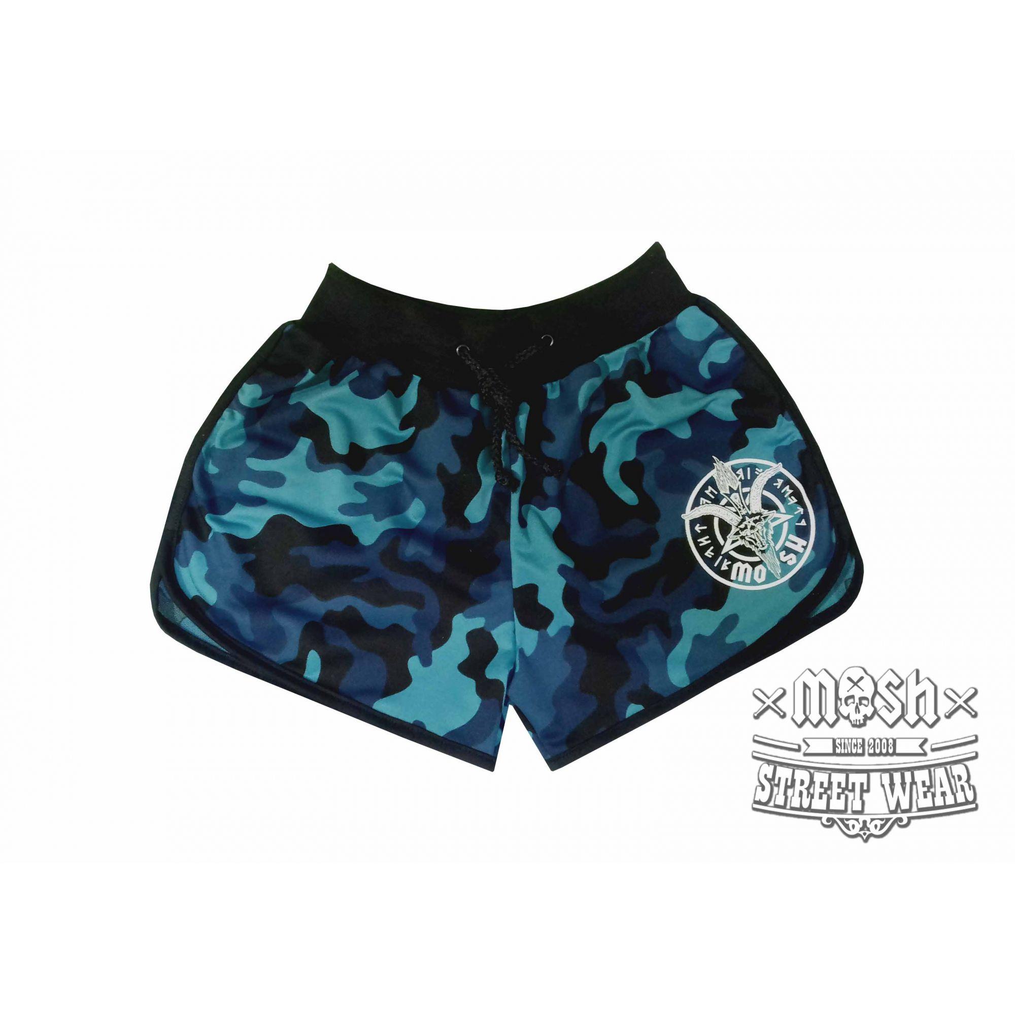 Shorts King Goat Camuflado Azul