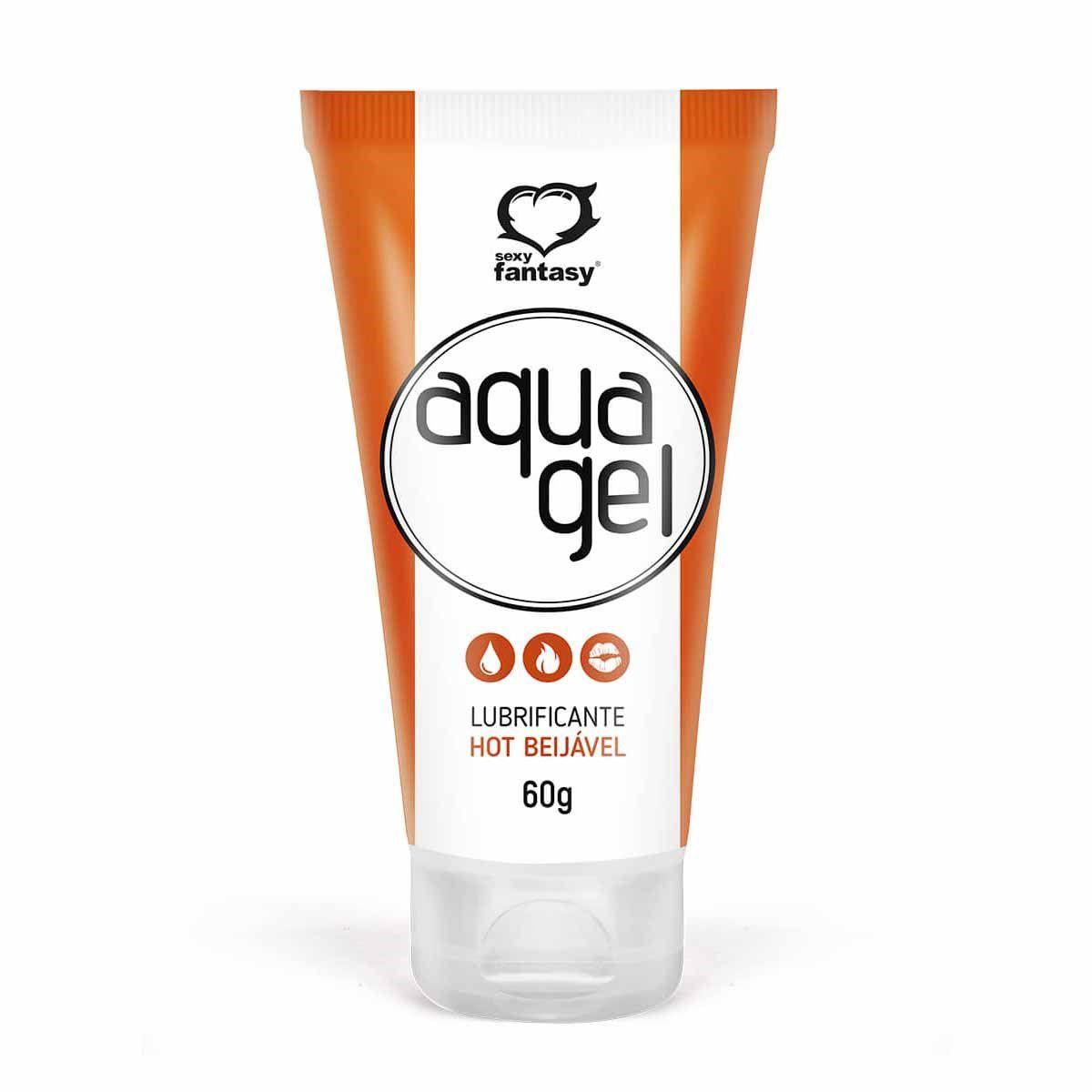 AquaGel Hot Gel Lubrificante Beijável 60g