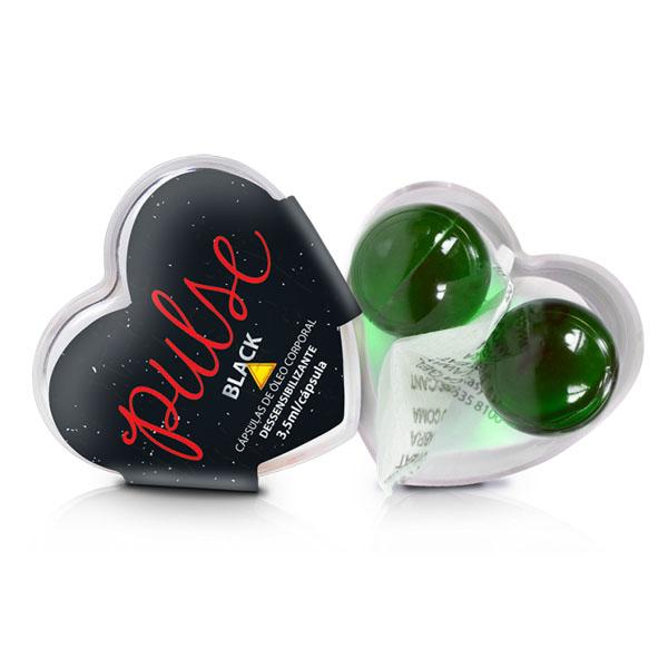 Bolinhas Pulse Black Dessensibilizante - Gel para Anal