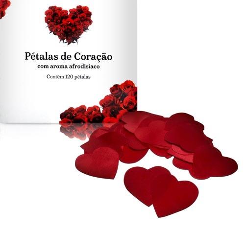 Pétalas Aromáticas em Formato de coração 120 unid