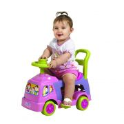 andador infantil 4 em 1 educativo com haste rosa magic toys