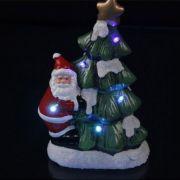 boneco papai noel decorativo arvore de natal 5 Leds 22 cm
