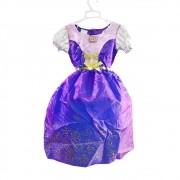 fantasia princesa rapunzel vestido infantil enrolados