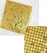 Kit 10 Papeis De Parede Pastilha Adesiva 3d Metalica 30x30