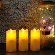 kit 3 velas decorativas led com movimento chama viva a pilha