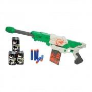 lançador de dardos sniper semiautomático com 10 dardos verde