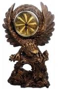 Relógio De Mesa Retro Gavião Em Metal Detalhado Decorativo