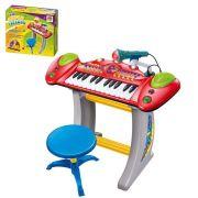 teclado infantil musical piano 10 sons instrumentos dm toys