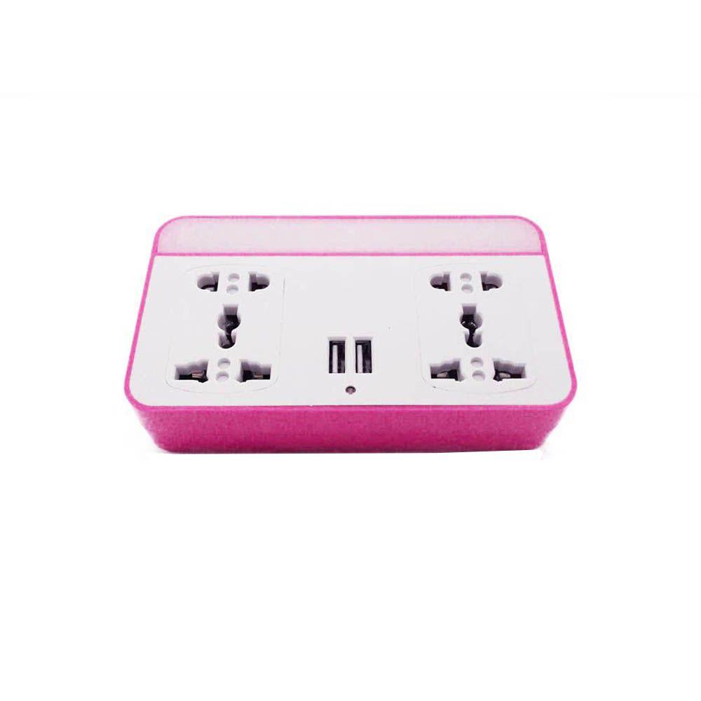 adaptador de tomada universal 4 em 1 com sensor led