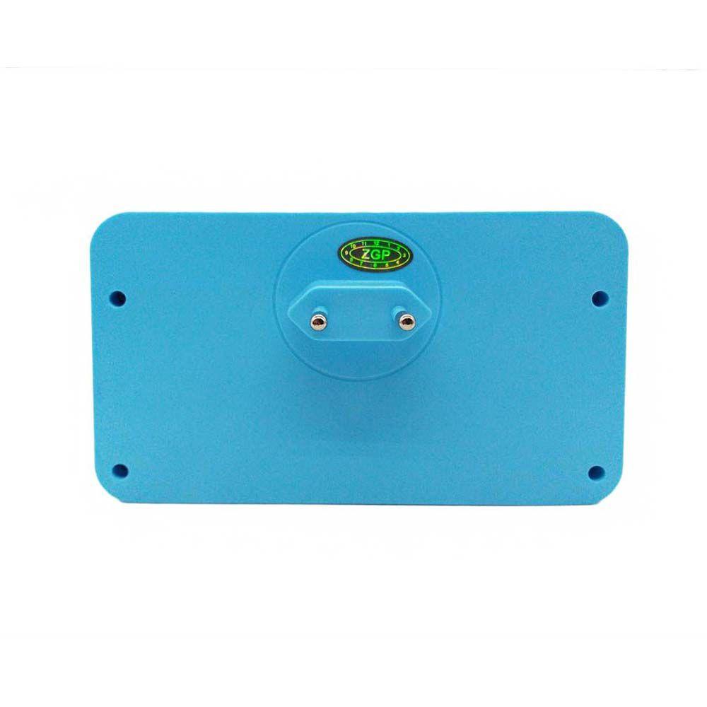 adaptador de tomada universal 4 em 1 com sensor led - azul